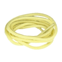 Pale Yellow Fine Round Shoe Laces