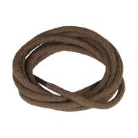 Dark Brown Fine Round Shoe Laces
